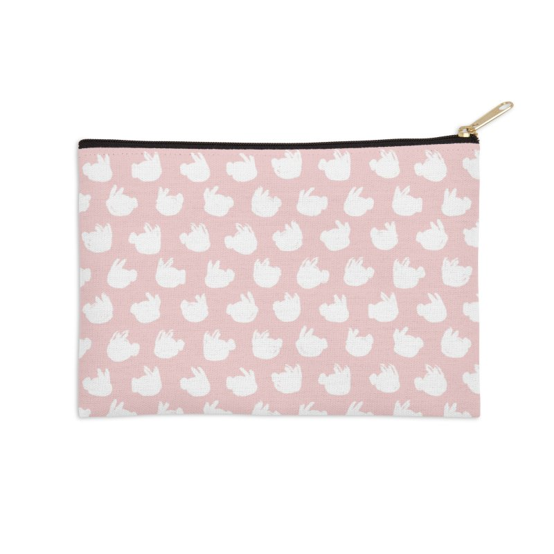 Fluff Bunnies Pattern Accessories Zip Pouch by Kristin Tipping