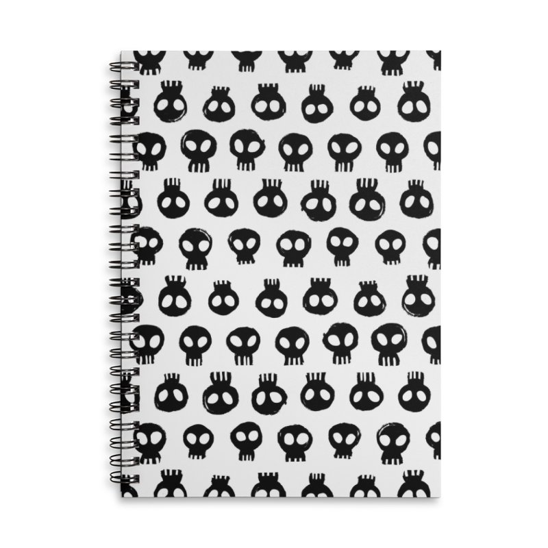 Mori Pattern Accessories Lined Spiral Notebook by Kristin Tipping