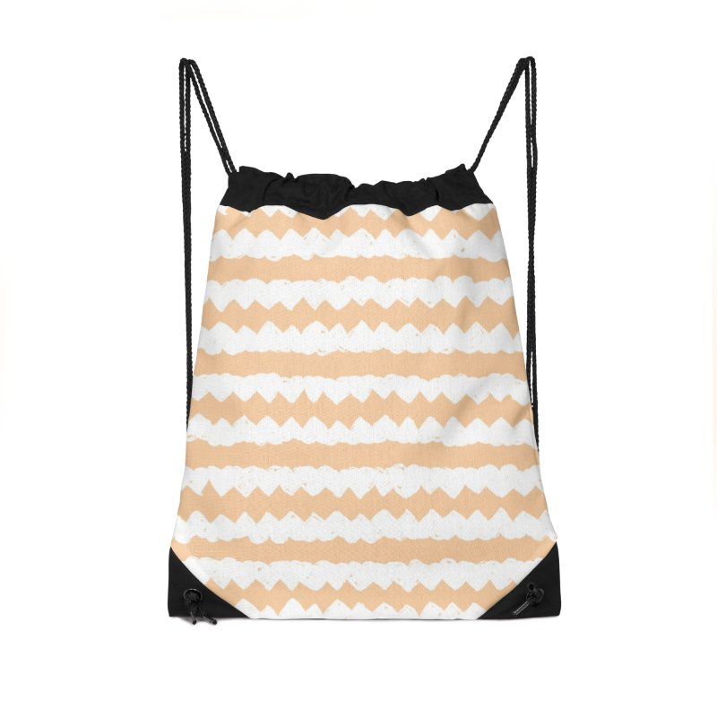 Squiggle-Zig Pattern Accessories Drawstring Bag Bag by Kristin Tipping