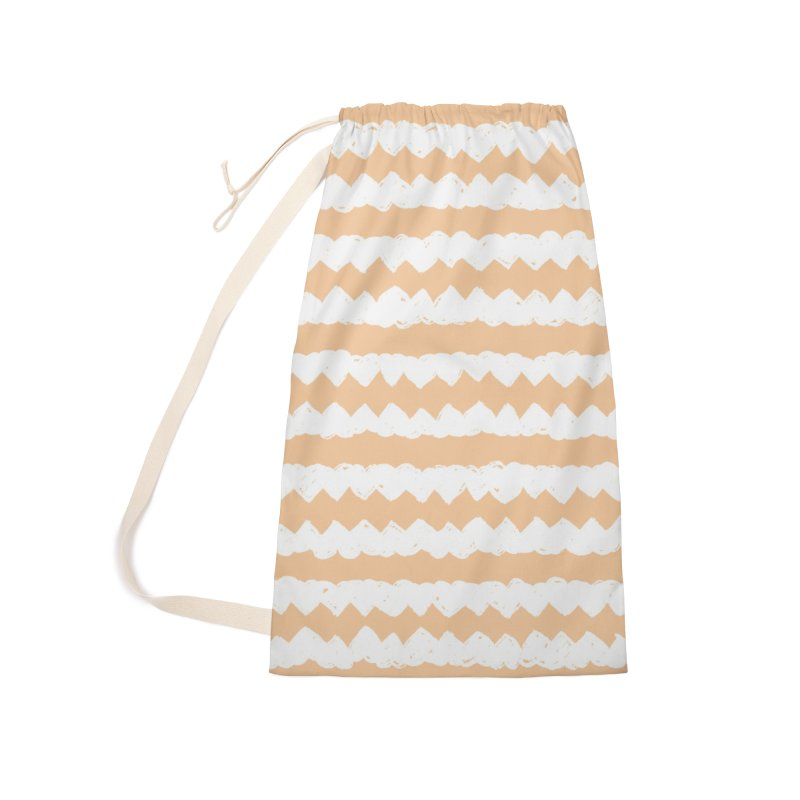 Squiggle-Zig Pattern Accessories Laundry Bag Bag by Kristin Tipping