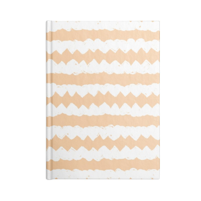 Squiggle-Zig Pattern Accessories Lined Journal Notebook by Kristin Tipping