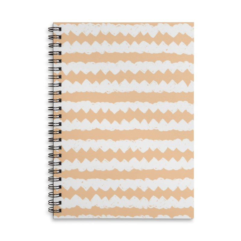 Squiggle-Zig Pattern Accessories Lined Spiral Notebook by Kristin Tipping