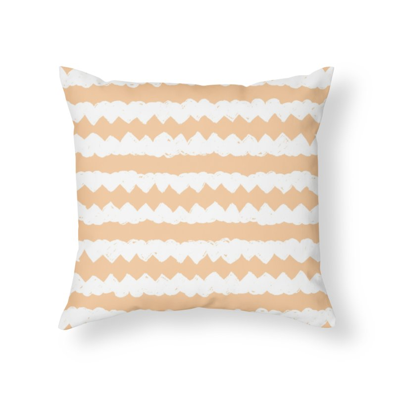Squiggle-Zig Pattern Home Throw Pillow by Kristin Tipping