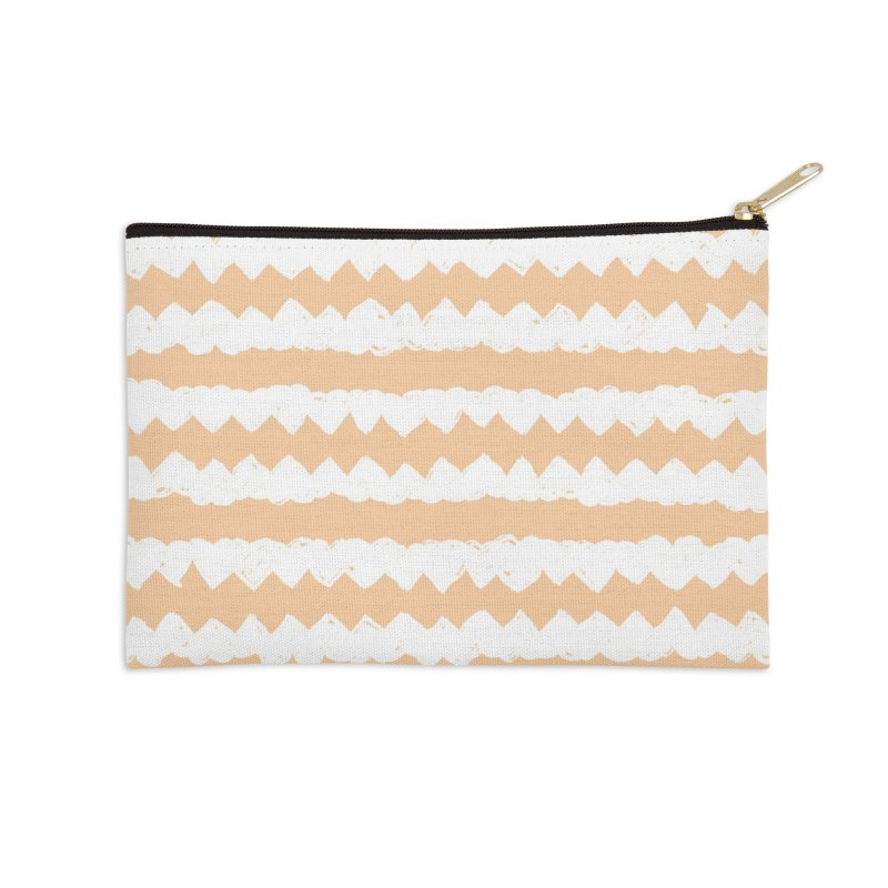 Squiggle-Zig Pattern Accessories Zip Pouch by Kristin Tipping
