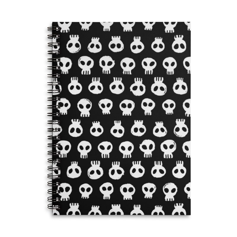 Memento Pattern Accessories Lined Spiral Notebook by Kristin Tipping