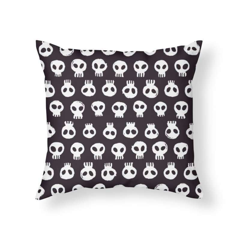 Memento Pattern Home Throw Pillow by Kristin Tipping