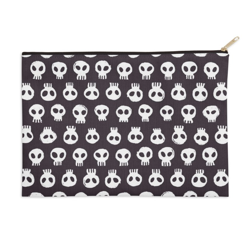 Memento Pattern Accessories Zip Pouch by Kristin Tipping