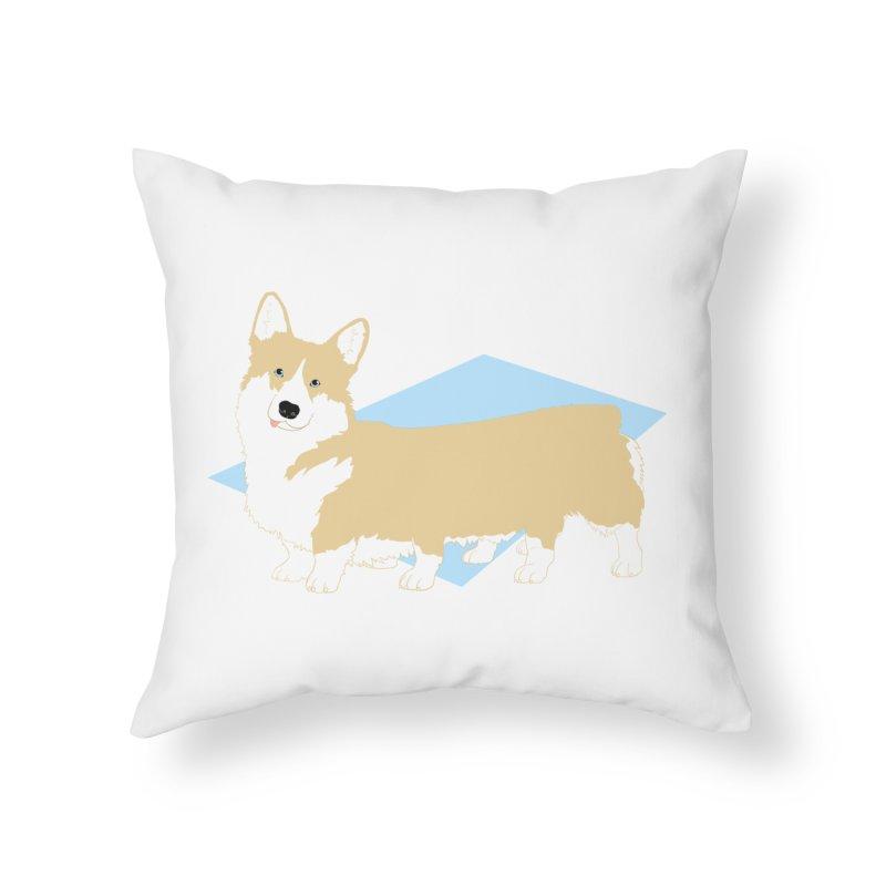 Corgipede Home Throw Pillow by Kristin Tipping