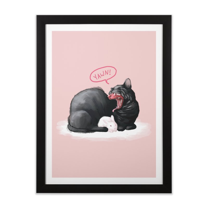 Yawn Home Framed Fine Art Print by Kristin Tipping