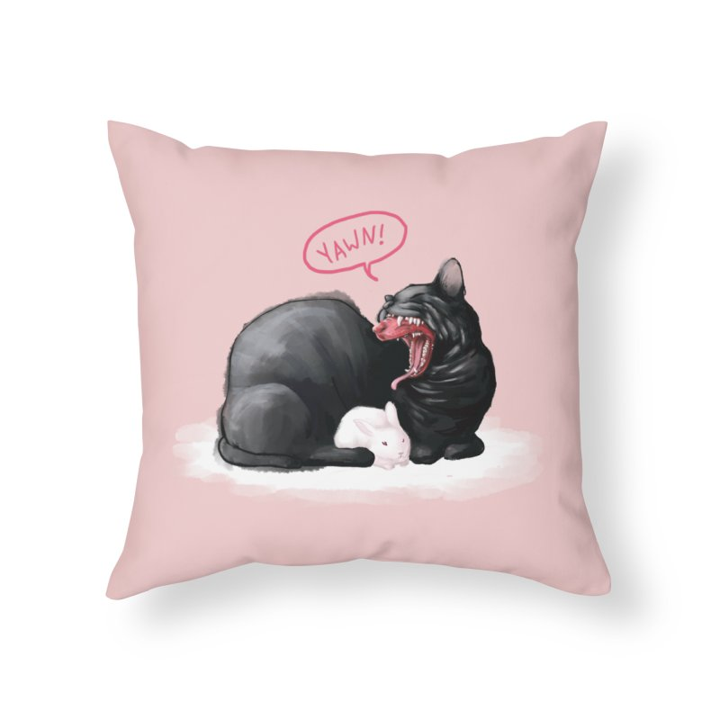 Yawn Home Throw Pillow by Kristin Tipping