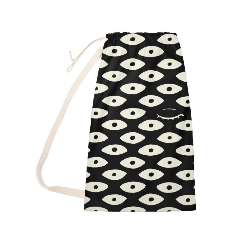 Wink Pattern Accessories Bag by Kristin Tipping