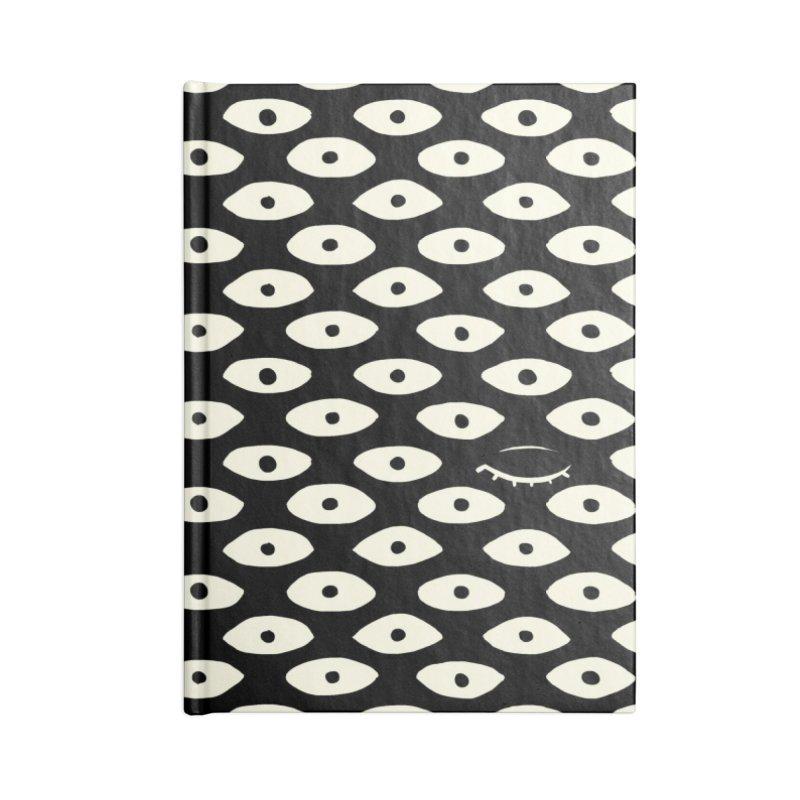 Wink Pattern in Blank Journal Notebook by Kristin Tipping