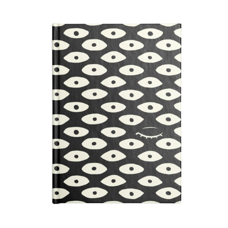 Wink Pattern Accessories Lined Journal Notebook by Kristin Tipping