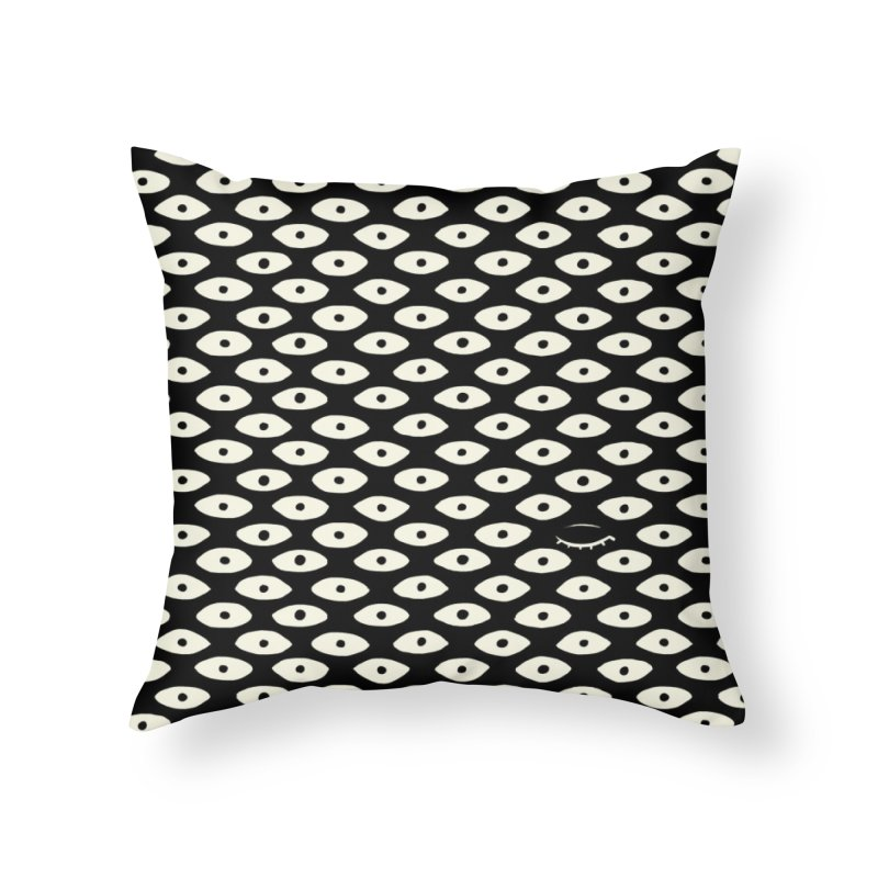 Wink Pattern Home Throw Pillow by Kristin Tipping