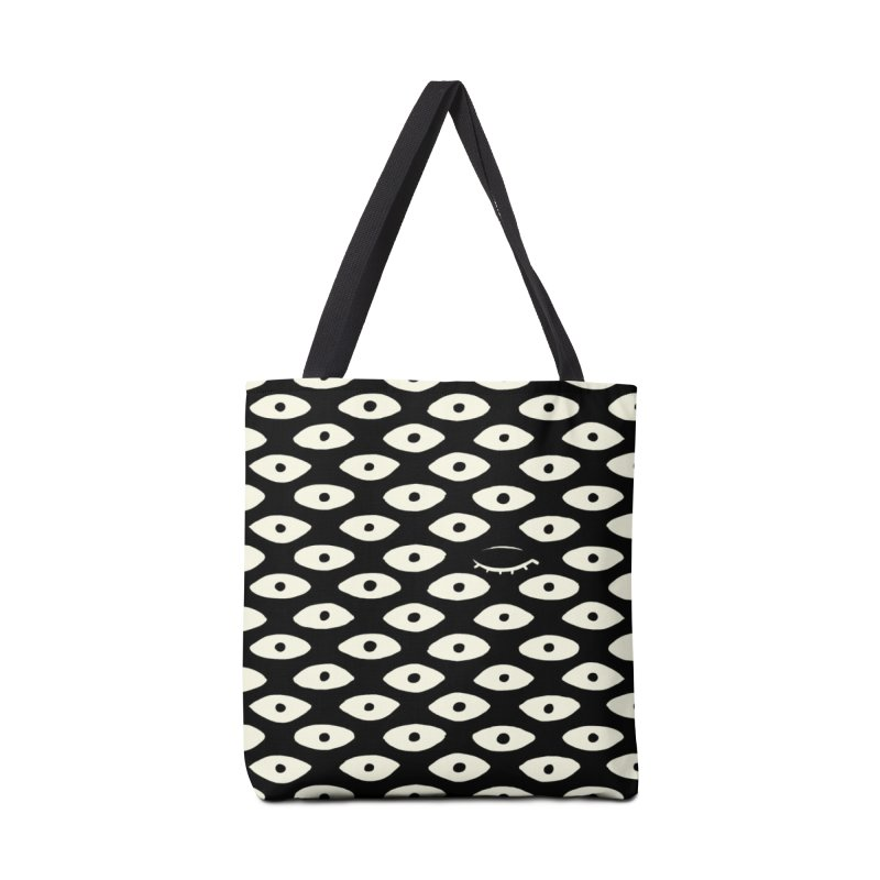 Wink Pattern Accessories Bag by kristintipping's Artist Shop