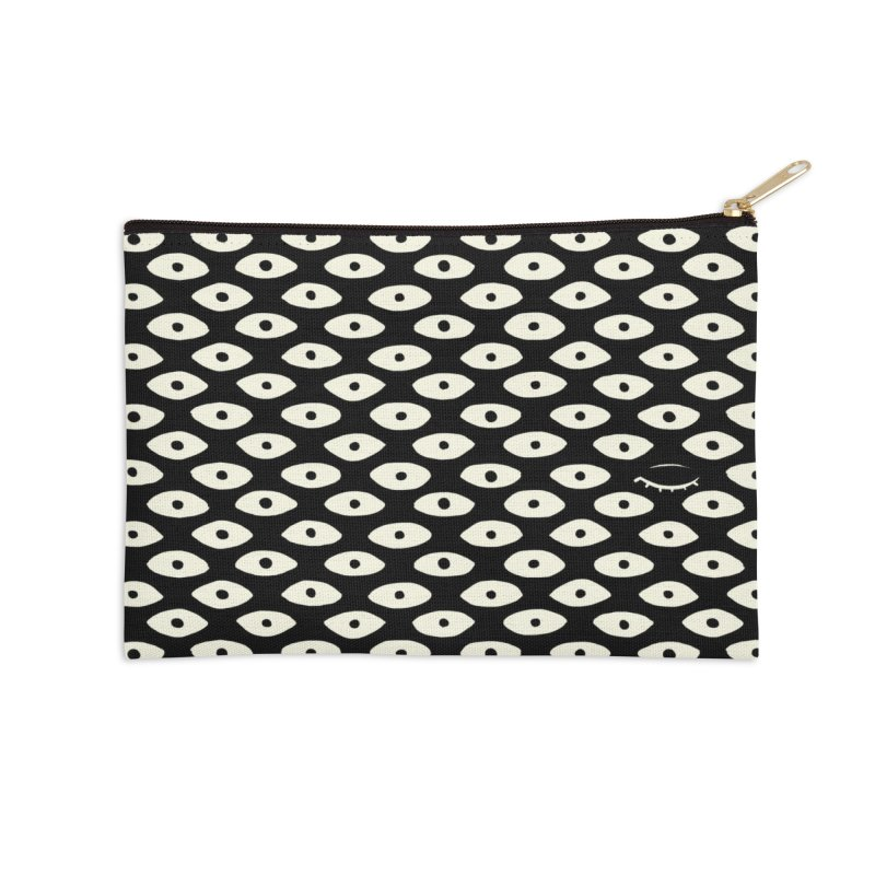 Wink Pattern Accessories Zip Pouch by Kristin Tipping