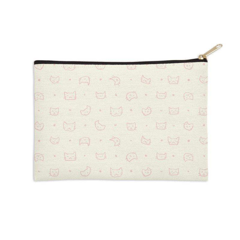 Kitties Pattern Accessories Zip Pouch by kristintipping's Artist Shop