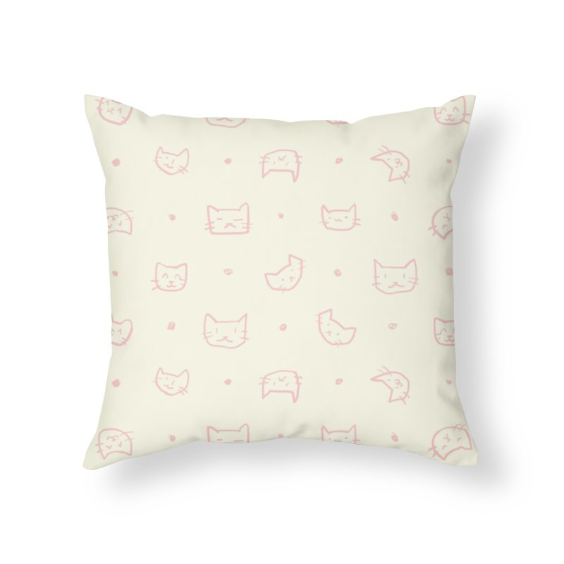 Kitties Pattern Home Throw Pillow by kristintipping's Artist Shop