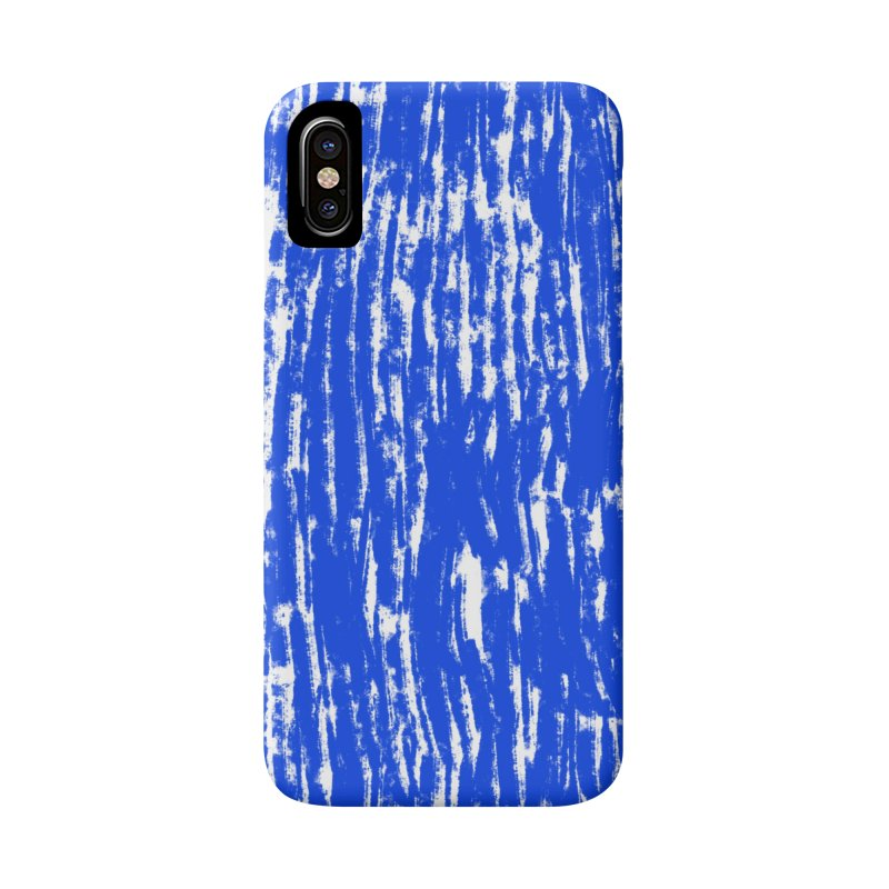 Blue Brush Pattern in iPhone X / XS Phone Case Slim by Kristin Tipping