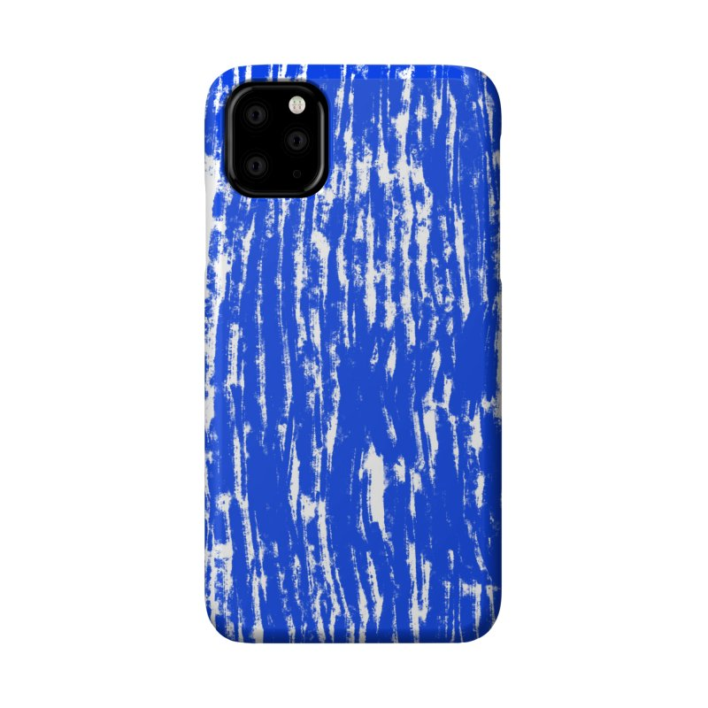 Blue Brush Pattern Accessories Phone Case by Kristin Tipping