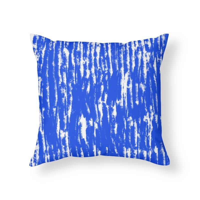 Blue Brush Pattern Home Throw Pillow by Kristin Tipping
