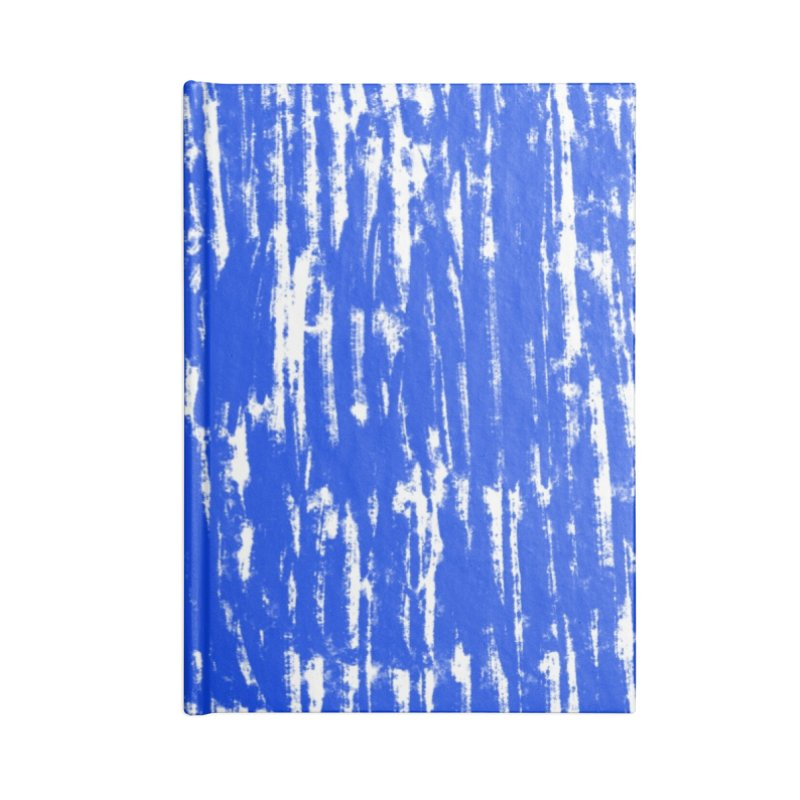 Blue Brush Pattern Accessories Lined Journal Notebook by Kristin Tipping