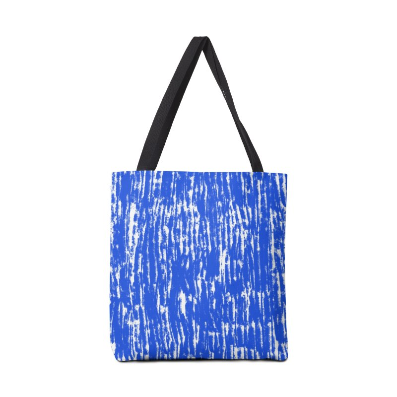 Blue Brush Pattern Accessories Bag by kristintipping's Artist Shop