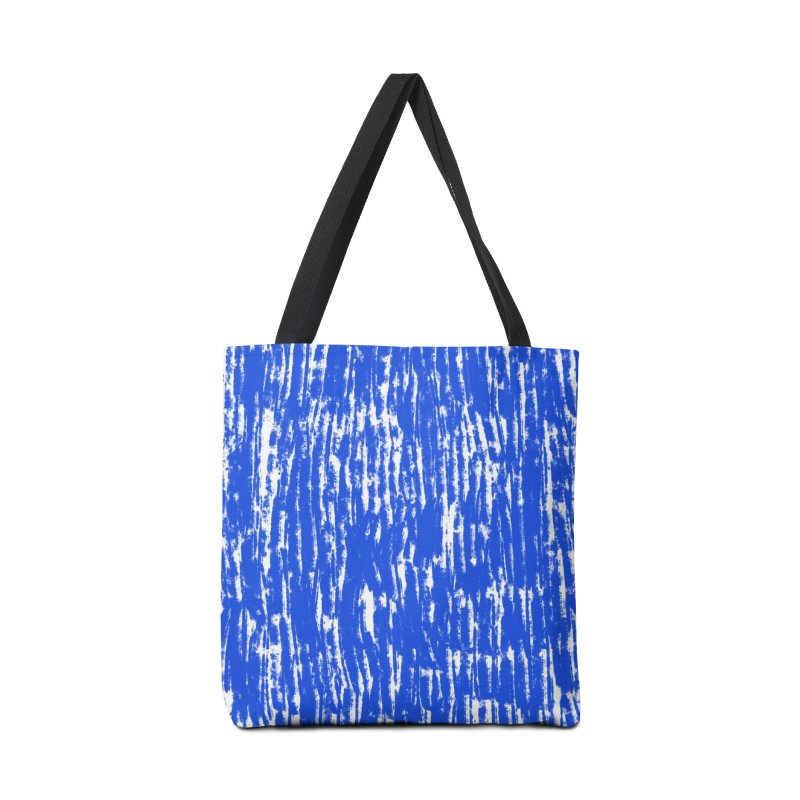 Blue Brush Pattern Accessories Bag by Kristin Tipping