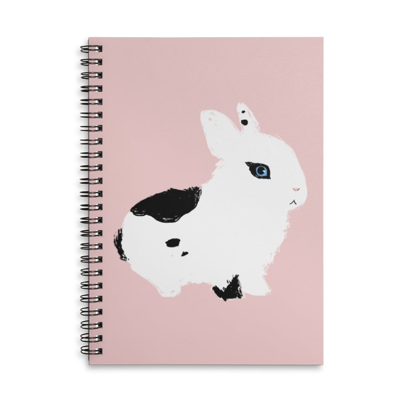 Patchwork Bun Accessories Lined Spiral Notebook by Kristin Tipping