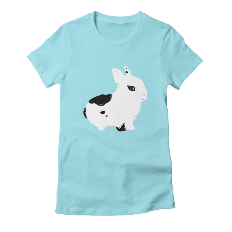 Patchwork Bun Women's Fitted T-Shirt by Kristin Tipping