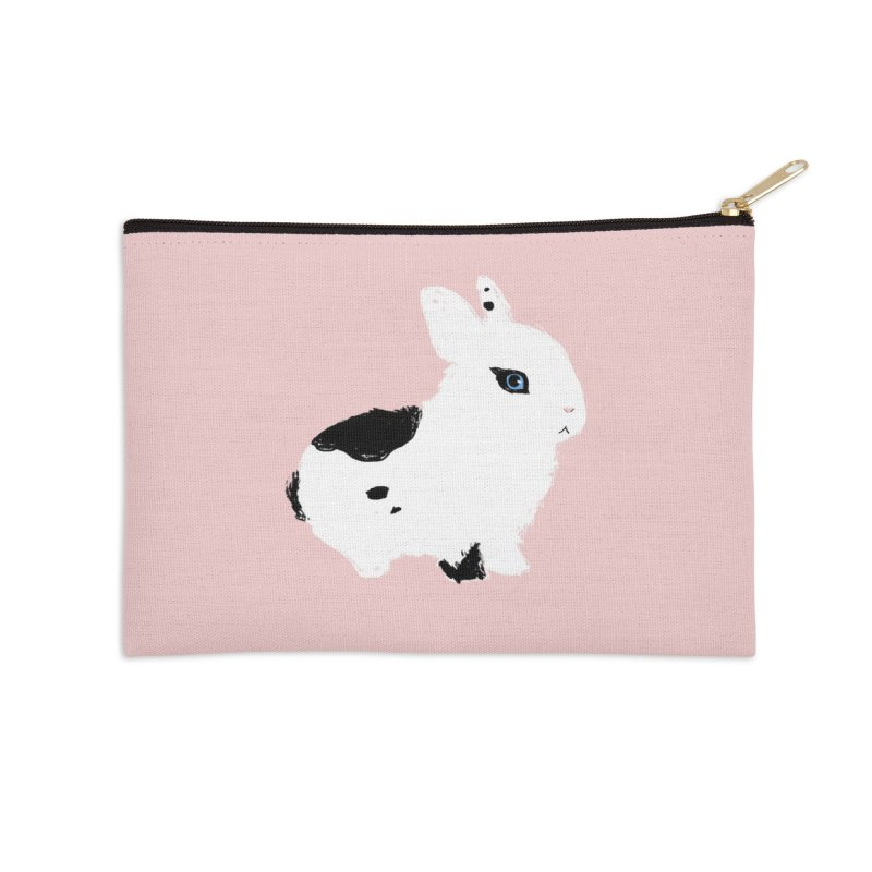 Patchwork Bun Accessories Zip Pouch by Kristin Tipping