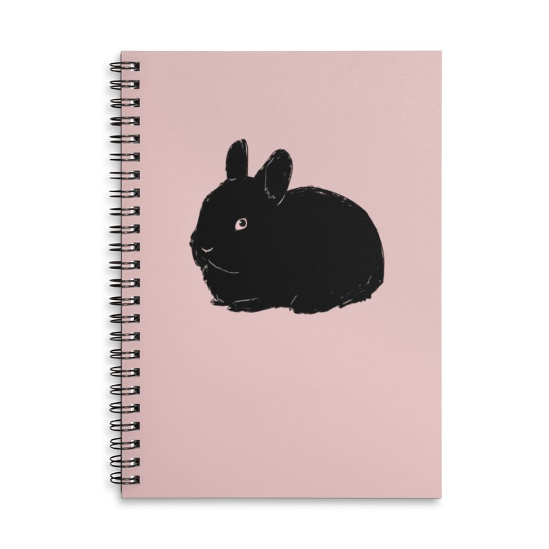 Goth Bun Accessories Lined Spiral Notebook by Kristin Tipping