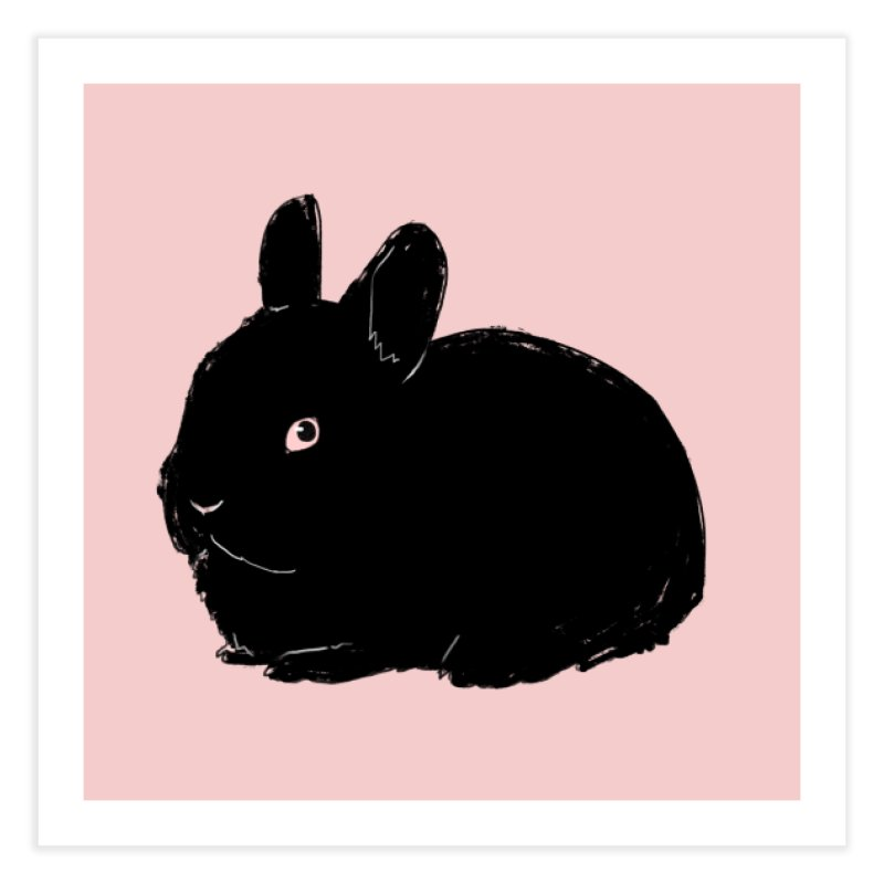Goth Bun Home Fine Art Print by Kristin Tipping