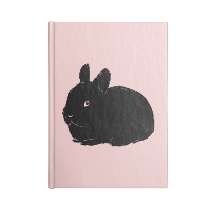 Goth Bun Accessories Lined Journal Notebook by Kristin Tipping