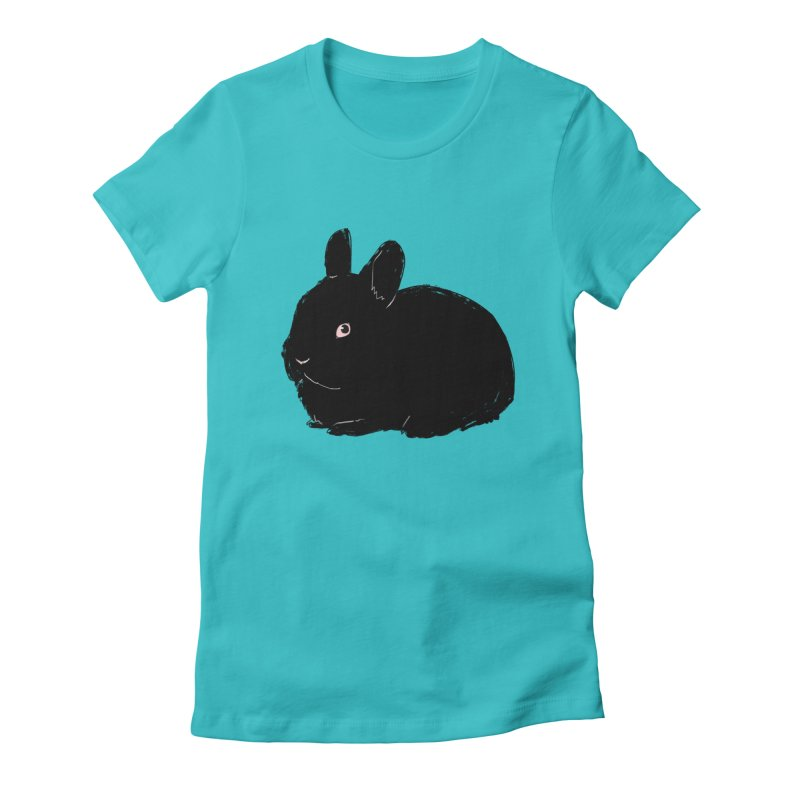 Goth Bun Women's Fitted T-Shirt by Kristin Tipping