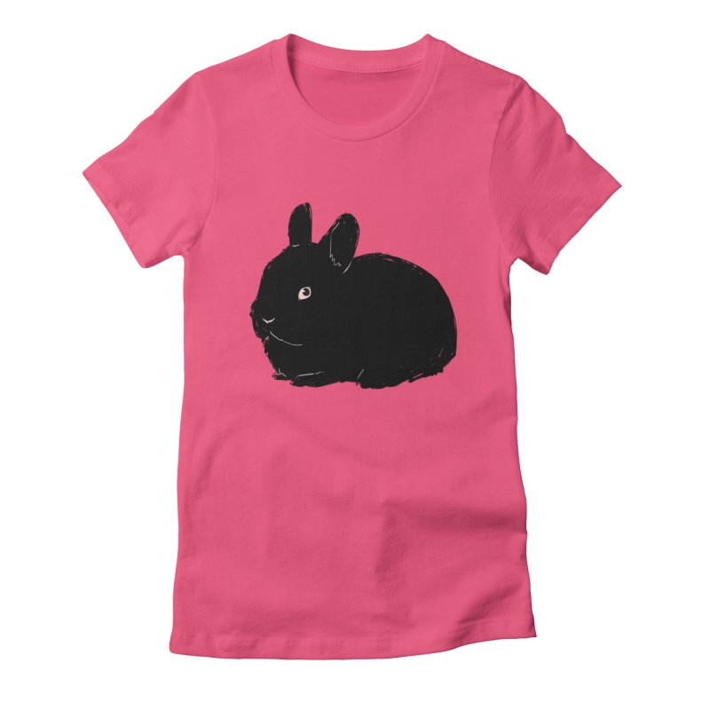 Goth Bun Women's Fitted T-Shirt by kristintipping's Artist Shop