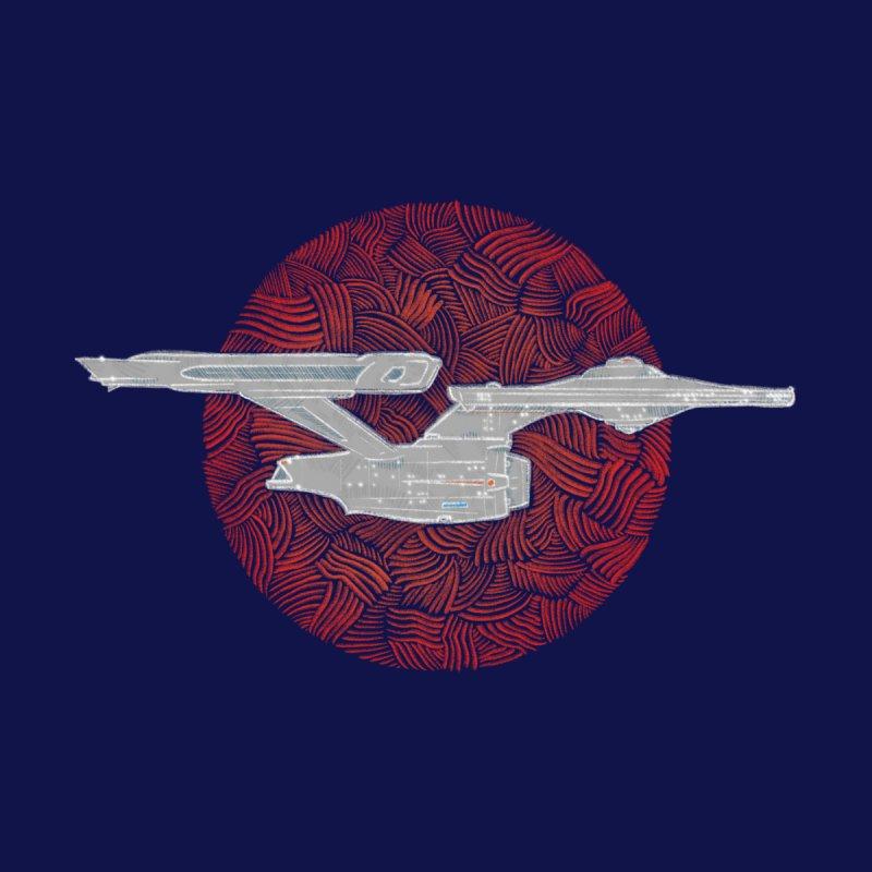 Final Frontier Space Ship Men's Zip-Up Hoody by Krist Norsworthy Art & Design