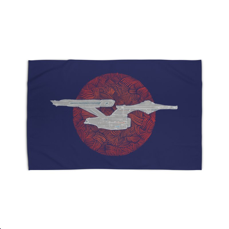 Final Frontier Space Ship Home Rug by Krist Norsworthy Art & Design