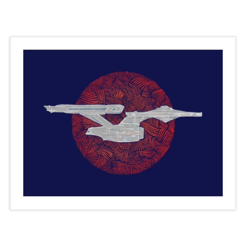 Final Frontier Space Ship Home Fine Art Print by Krist Norsworthy Art & Design
