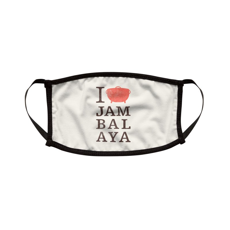 I Love Jambalaya Accessories Face Mask by Krist Norsworthy Art & Design