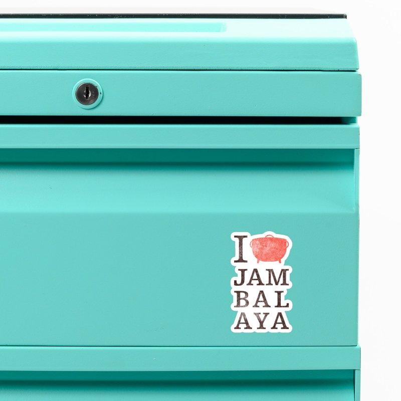 I Love Jambalaya Accessories Magnet by Krist Norsworthy Art & Design