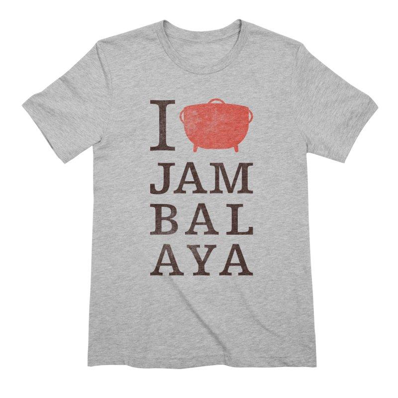 I Love Jambalaya Men's Extra Soft T-Shirt by Krist Norsworthy Art & Design