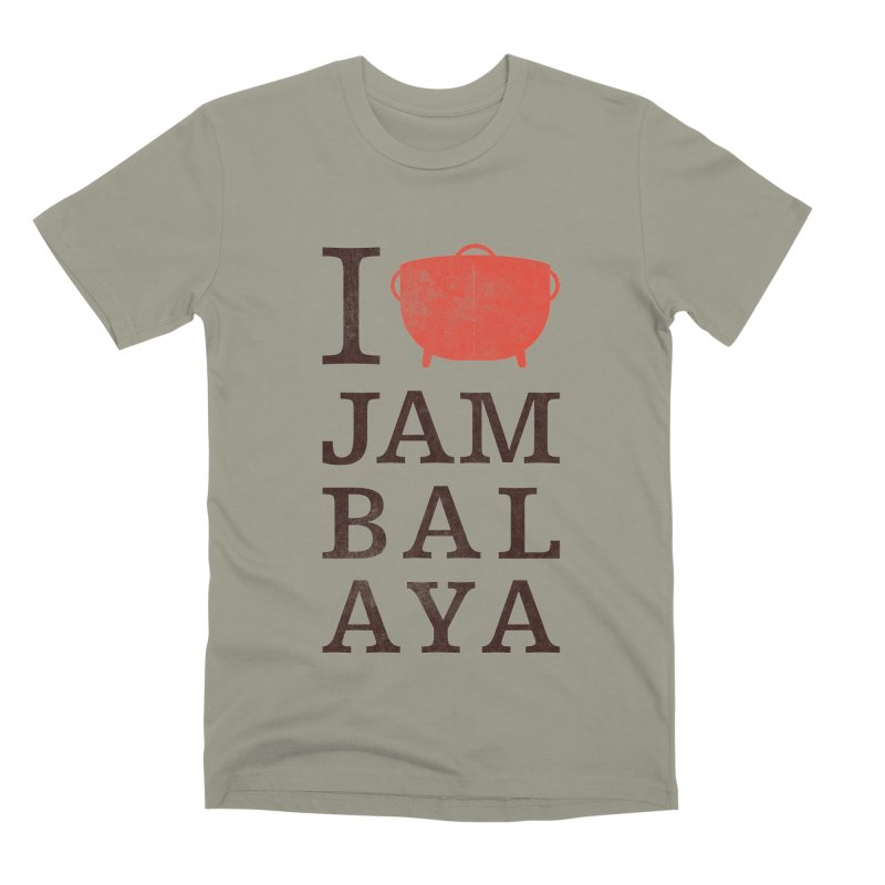 I Love Jambalaya Men's Premium T-Shirt by Krist Norsworthy Art & Design