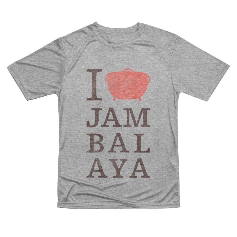 I Love Jambalaya Men's Performance T-Shirt by Krist Norsworthy Art & Design