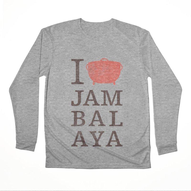 I Love Jambalaya Men's Performance Longsleeve T-Shirt by Krist Norsworthy Art & Design