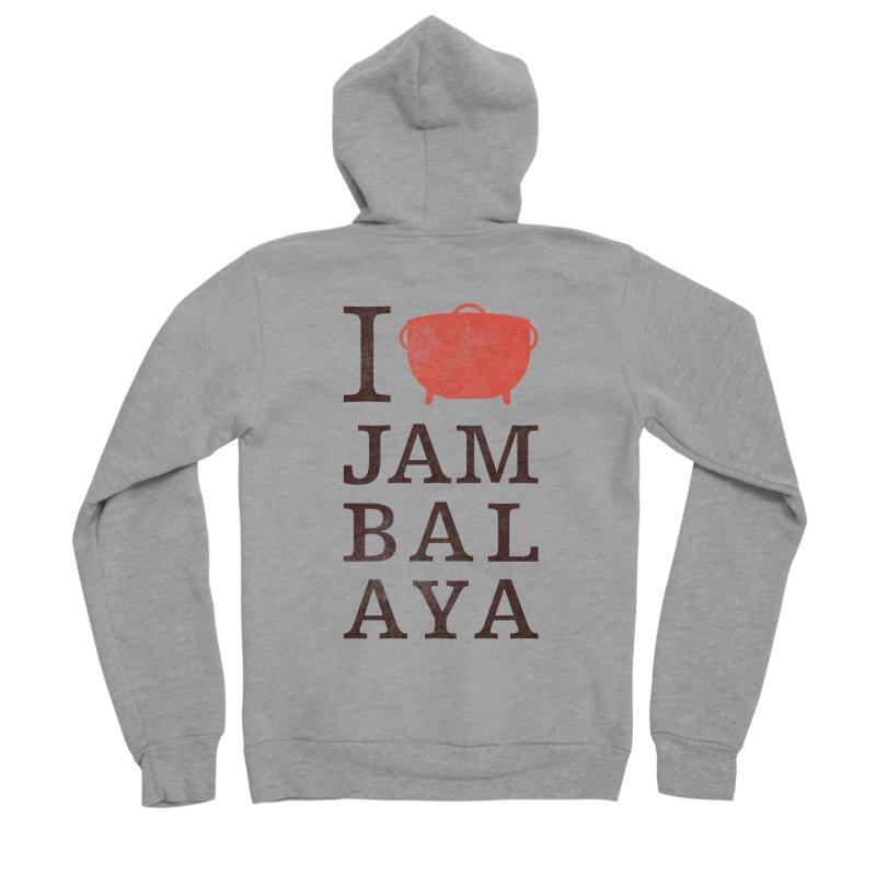 I Love Jambalaya Men's Sponge Fleece Zip-Up Hoody by Krist Norsworthy Art & Design