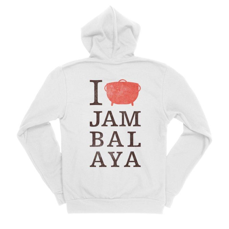 I Love Jambalaya Men's Zip-Up Hoody by Krist Norsworthy Art & Design