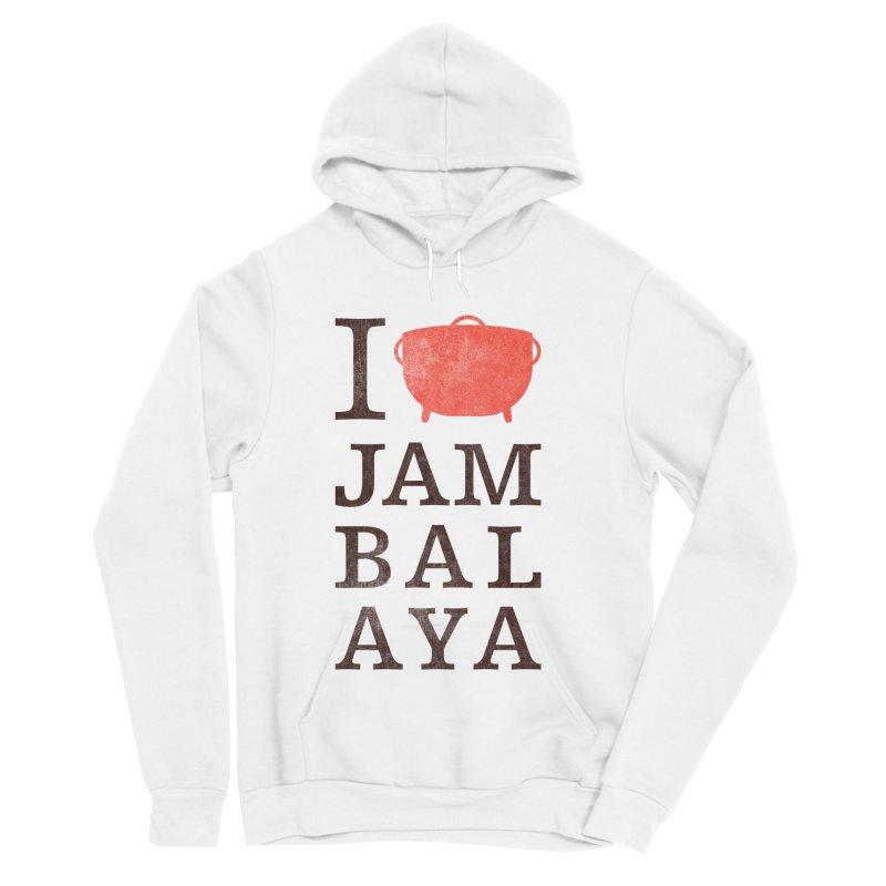 I Love Jambalaya Women's Sponge Fleece Pullover Hoody by Krist Norsworthy Art & Design
