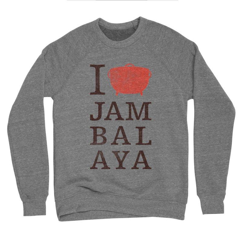 I Love Jambalaya Men's Sponge Fleece Sweatshirt by Krist Norsworthy Art & Design