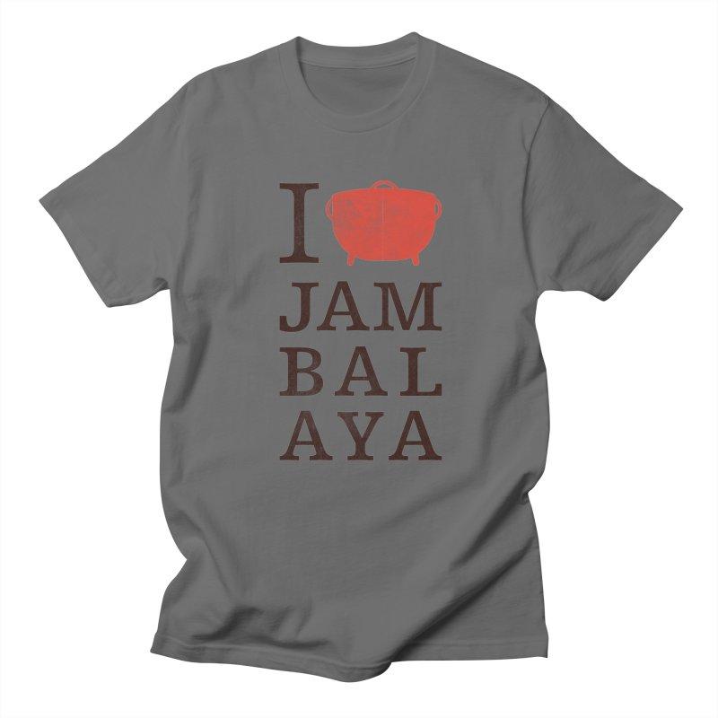 I Love Jambalaya Men's T-Shirt by Krist Norsworthy Art & Design
